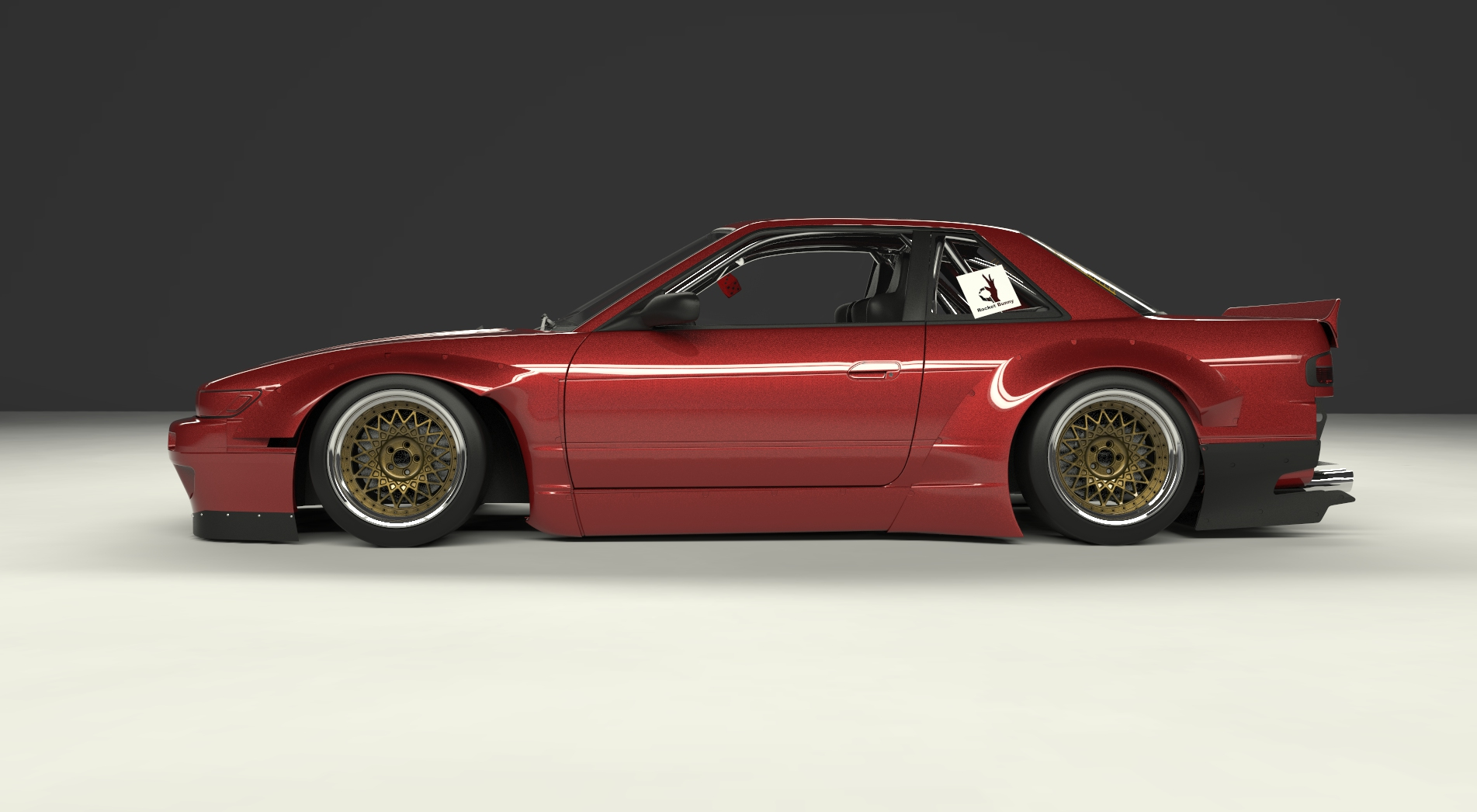 ROCKET BUNNY NISSAN S13 Silvia kit 180SX WIDE BODY KIT
